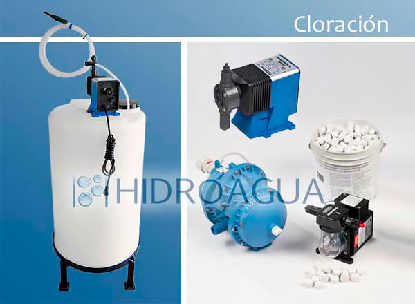 Hidroagua cloraci n sistemas dosificadores de cloro for Estanques para almacenar agua potable